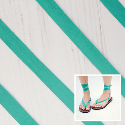 Teal Cotton Straps