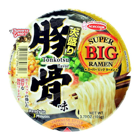 Japanese Food: Ace Cook Super Big Ramen Tonkotsu Bowl