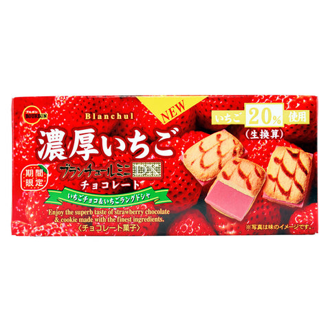 Japanese Cookie: Bourbon Blanchul Mini Strawberry Chocolate Cookie
