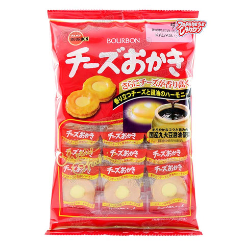 Japanese Snack: Bourbon Cheese Okaki Rice Cracker