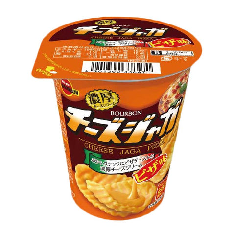 Japanese Snack: Bourbon Jaga Cheese Pizza Potato Chips