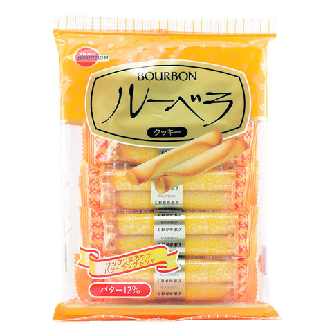 Japanese Snack: Bourbon Lubera Wafer Roll