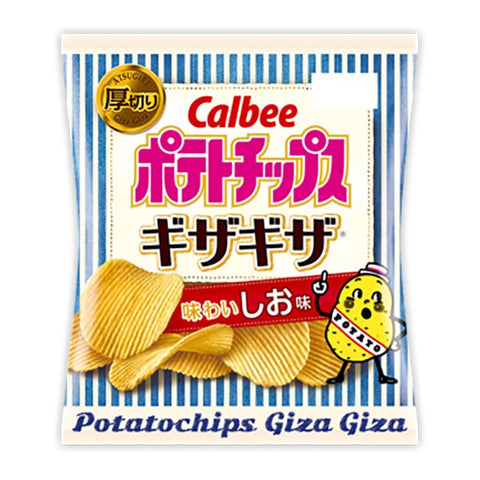 Japanese Snack: Calbee Giza Giza Shio Potato Chips