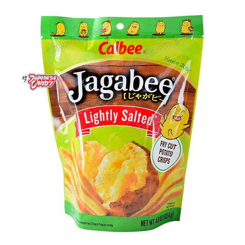 Japanese Snack: Calbee Jagabee Potato Crisps (Lightly Salted)