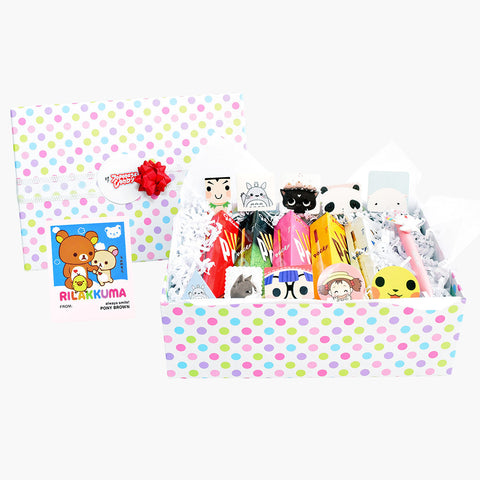 Gift Box: Classic Pocky, Kawaii Stickers, Kawaii Line Friends Pen