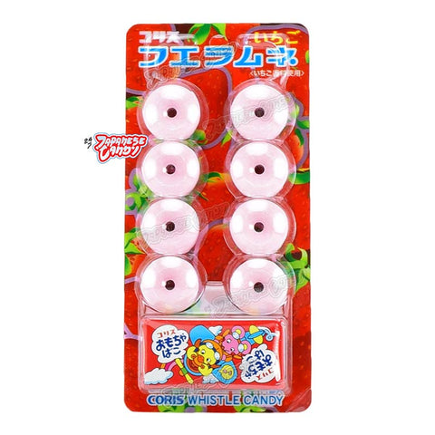 Japanese Candy: Coris Fue Ramune Whistle Candy (Strawberry Ramune)