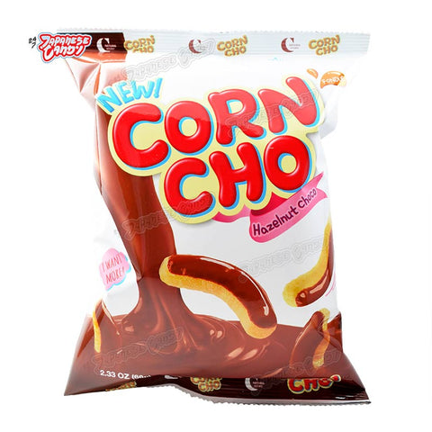 Korean Snack: Crown Corn Cho Hazelnut Chocolate
