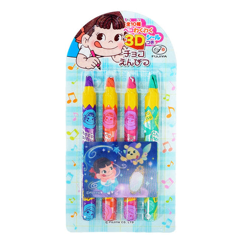 Japanese Chocolate: Fujiya Peko Enpitsu Pencil Chocolate (Hologram Sticker)