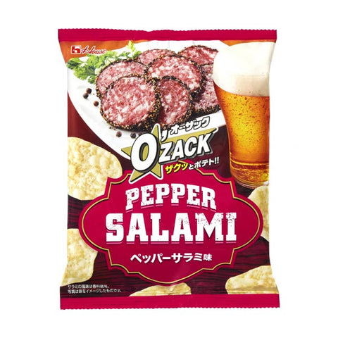 Japanese Snack: House O'Zack Pepper Salami Potato Chips
