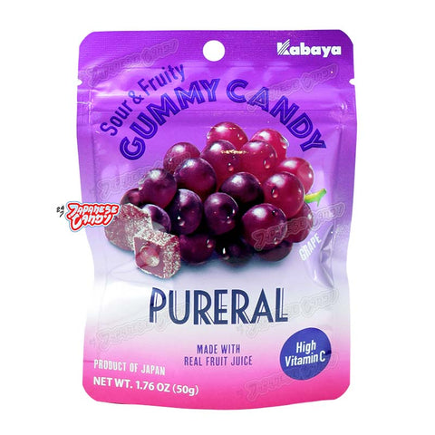 Japanese Candy: Kabaya Pureral Sour & Fruity Gummy (Grape)