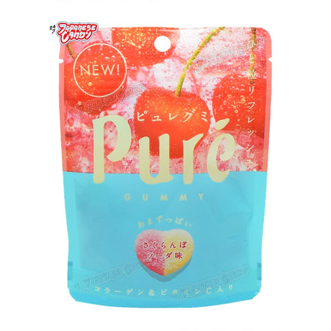 Japanese Candy: Kanro Puré Gummy (Cherry Soda)