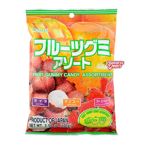 Japanese Candy: Kasugai Fruit Gummy Candy Assortment