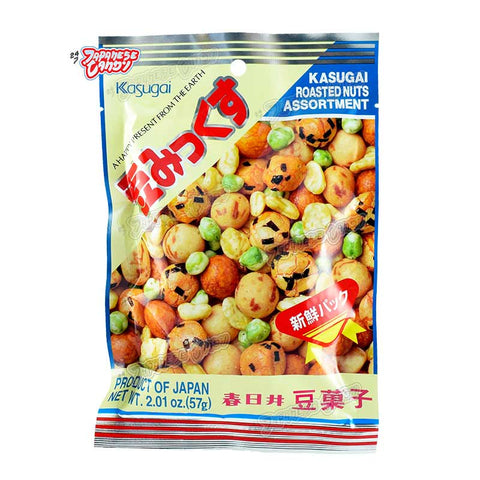 Japanese Snack: Kasugai Mame Mix (Assorted Roasted Nuts)