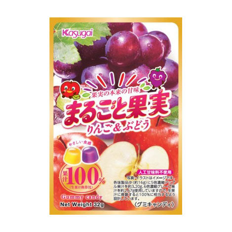 Marugoto Kajitsu Gummy (Apple & Grape)