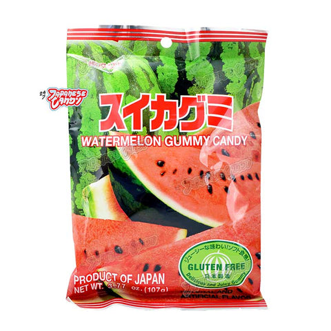 Japanese Candy: Kasugai Watermelon Gummy Candy