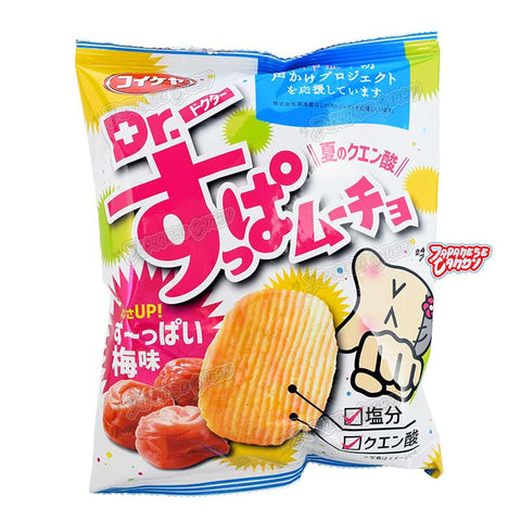 Japanese Snack: Koikeya Dr. Suppamucho Ume Potato Chips
