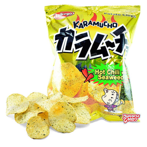 Taiwanese Snack: Koikeya Karamucho Potato Chips (Hot Chili & Seaweed)