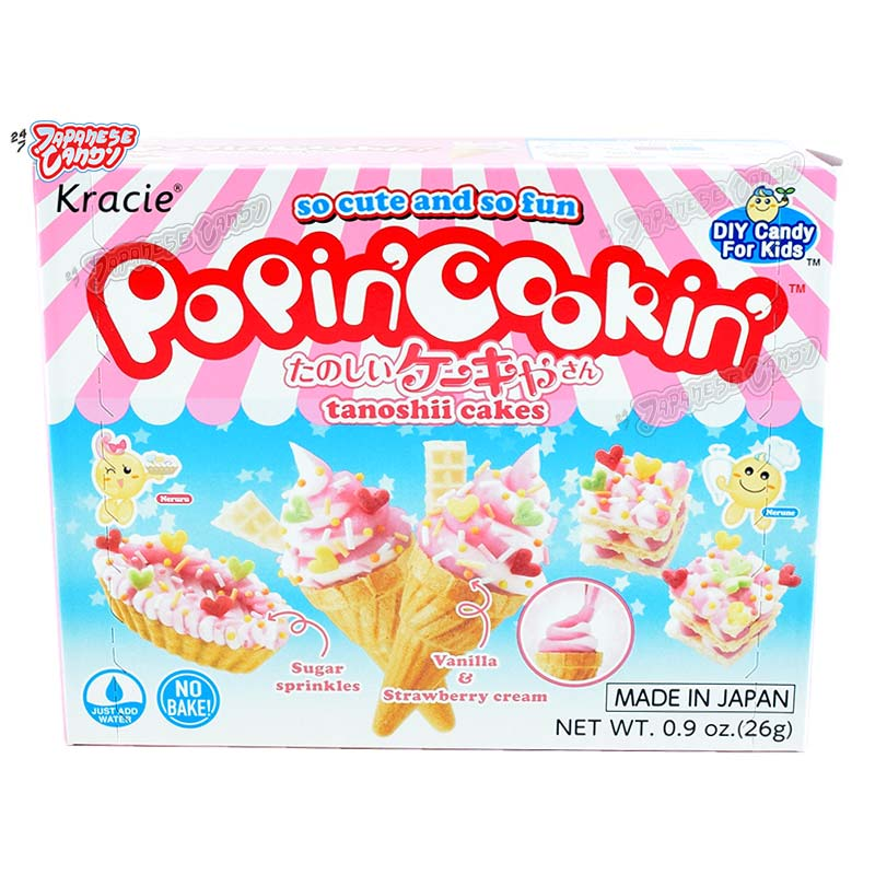 buy online kracie popin 39 cookin 39 tanoshii cakes diy candy kit 24 7 japanese candy. Black Bedroom Furniture Sets. Home Design Ideas
