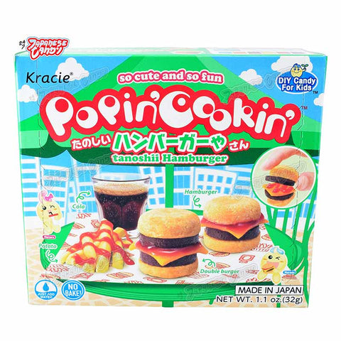 Japanese Candy: Kracie Popin' Cookin' Tanoshii Hamburger (DIY Candy Kit)