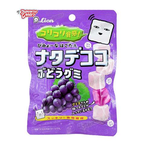 Japanese Candy: Lion Nate De Coco Grape Gummy Candy