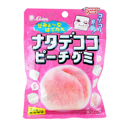 Japanese Candy: Lion Nate De Coco Peach Gummy Candy