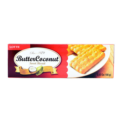 Korean Snack: Lotte Butter Coconut Sweet Biscuit