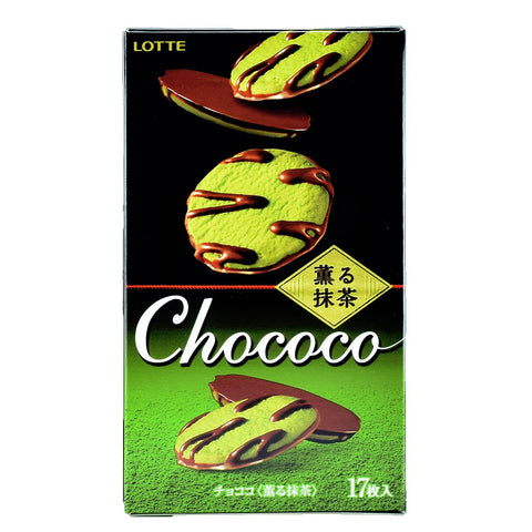 Japanese Snack: Lotte Chococo Matcha Cookie