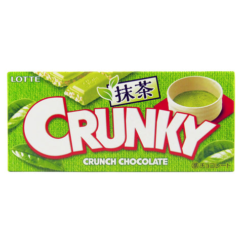 Japanese Candy: Lotte Crunky Matcha Chocolate Bar