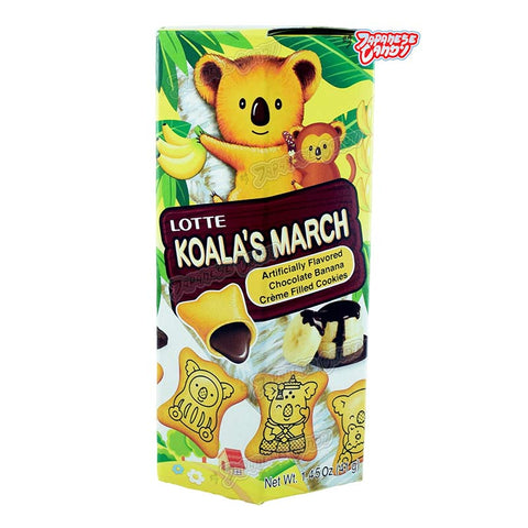 Thailand Snack: Lotte Koala's March Cookie (Chocolate Banana)