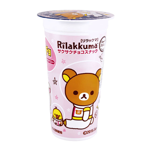 Japanese Snacks: Lotte Rilakkuma Strawberry Corn Puffs