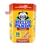 USA Snack: Meiji Hello Panda Caramel Cookie (Family Pack)