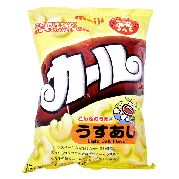 Japanese Snack: Meiji Karl Lightly Salted Corn Puff