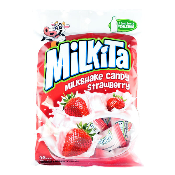 Indonesian Candy: Milkita Strawberry Milkshake Candy