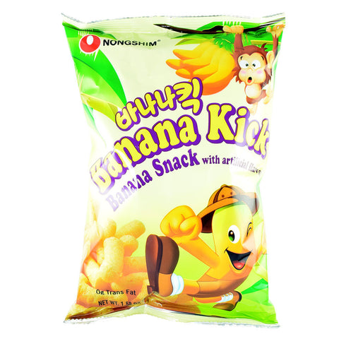 Korean Snack: Nongshim Banana Kick Corn Puff