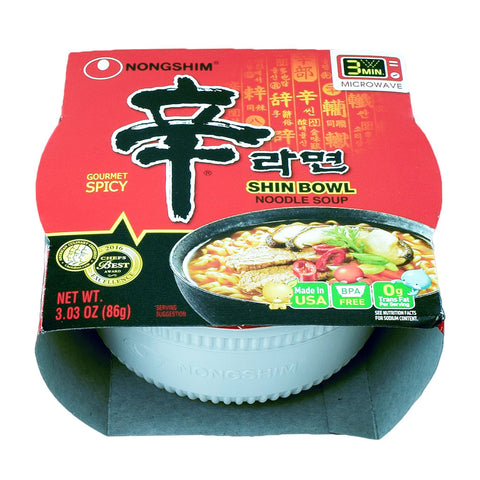 Korean Ramen: Nongshim Spicy Shin Bowl