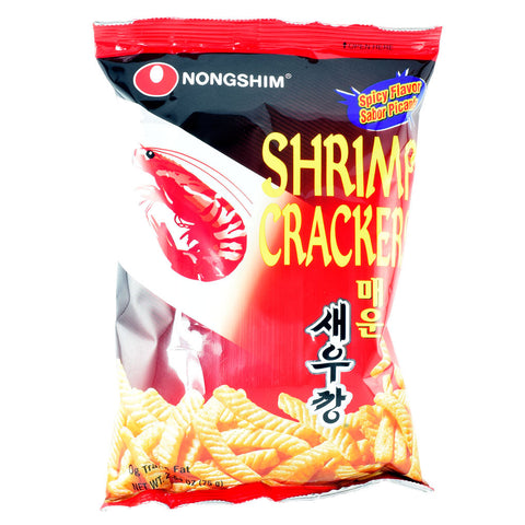 Korean Snack: Nongshim Spicy Shrimp Crackers