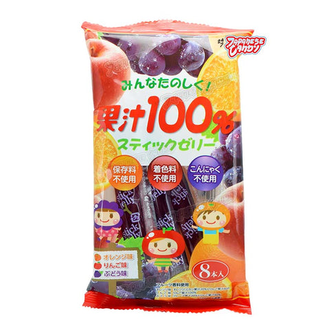 Japanese Food: Ribon Jelly Stick 100% Fruit Juice (Assorted Flavor)