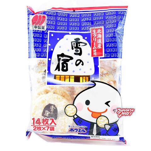 Japanese Snack: Sanko Frosted Rice Cracker 14pcs (Yuki No Yado)