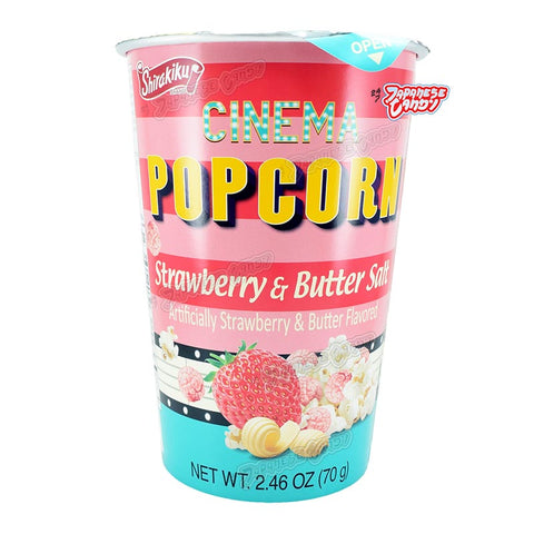 Korean Snack: Shirakiku Cinema Popcorn (Strawberry & Butter Salt)