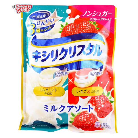 Japanese Candy: Teicalo Xylicrystal Assorted Mint Candy (Mint & Strawberry)
