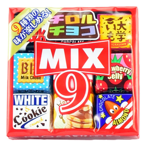Japanese Candy: Tirol Mix 9 Chocolate Sweet Potato