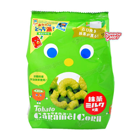 Japanese Snack: Tohato Caramel Corn Puff (Matcha Green Tea)