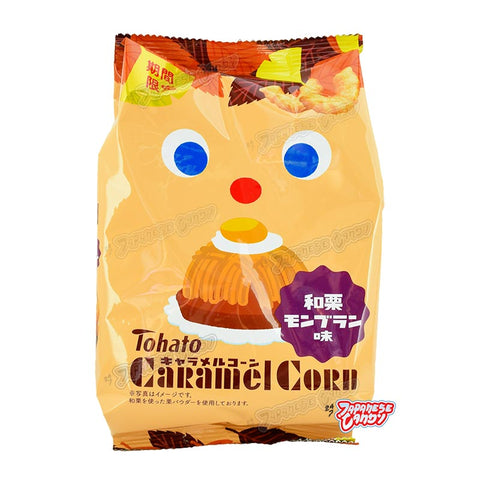 Japanese Candy: Tohato Caramel Corn Chestnut Mont Blanc