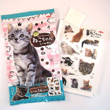 Japanese Candy: Top Seika Neko-chan Seal Gum Set (Sticker & Gum)