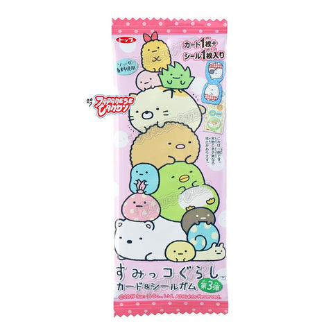 Japanese Gum: Top Seika Sumikko Gurashi Gum Set (Sticker & Card)