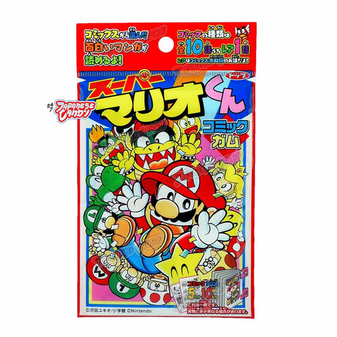 Japanese Candy: Top Seika Super Mario Bubble Gum Set (Comic Cards & Gum)