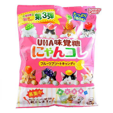 Japanese Candy: UHA Kitty Cat Nyankore Assorted Fruit Candy