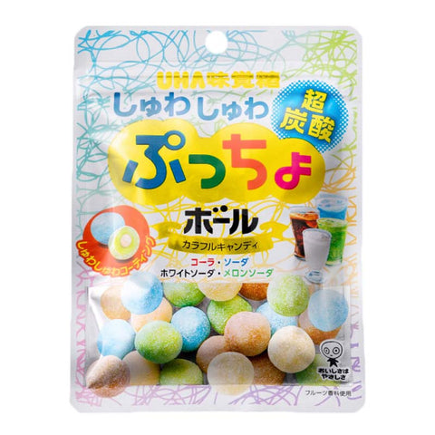 Japanese Candy: UHA Puccho Ball Shuwashuwa Tansan Carbonated Assorted Mix