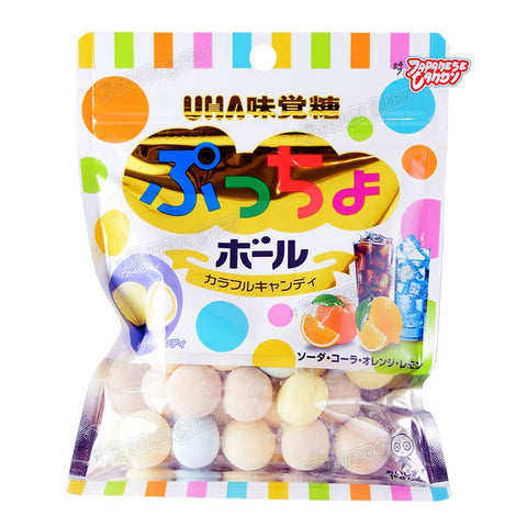 Japanese Candy: UHA Puccho Ball Soda (Colorful Assorted Mix)