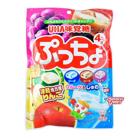 Japanese Candy: UHA Puccho Fruit Mix Soft Candy (Tsugaru Apple)